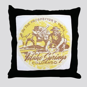 Faded Idaho Springs Colorado Throw Pillow