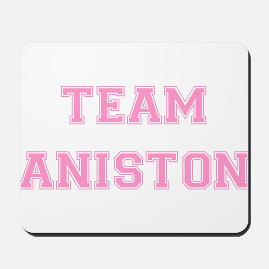 Team Aniston Pink Mousepad