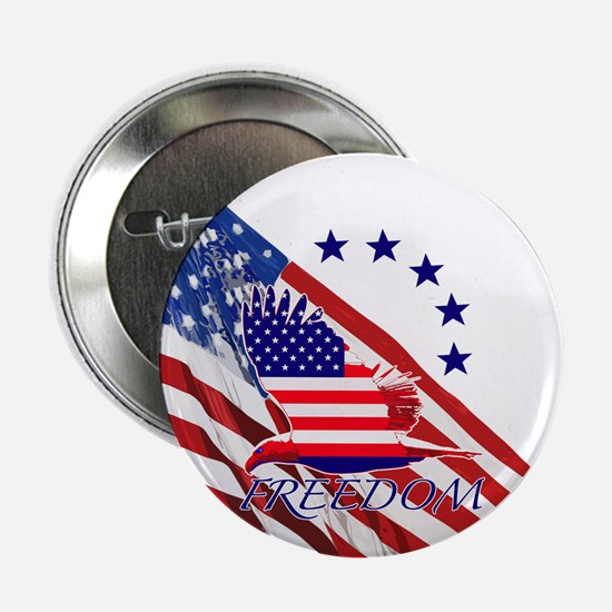 "Freedom eagle 4 2.25"" Button (10 pack)"