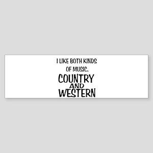 Country & Western Bumper Sticker