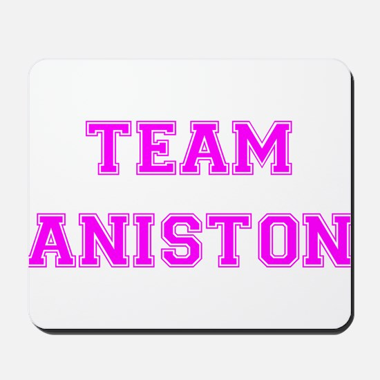 Team Aniston Hot Pink Mousepad