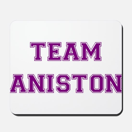 Team Aniston Purple Mousepad