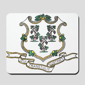 Vintage Connecticut State Flag Mousepad
