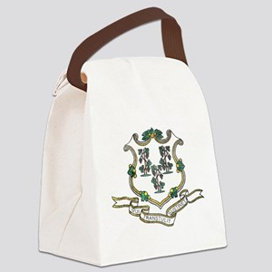 Vintage Connecticut State Flag Canvas Lunch Bag