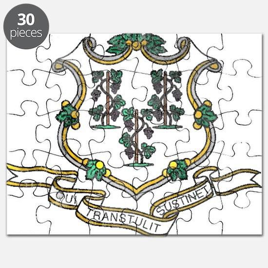 Vintage Connecticut State Flag Puzzle