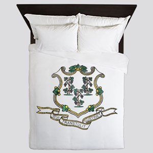 Vintage Connecticut State Flag Queen Duvet