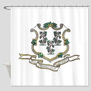 Vintage Connecticut State Flag Shower Curtain