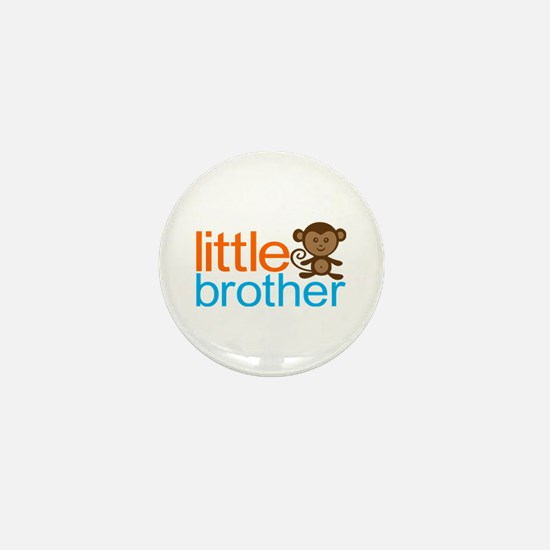 Monkey Little Brother Mini Button