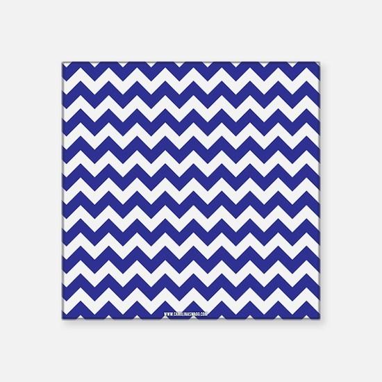 Chevron Blue Sticker
