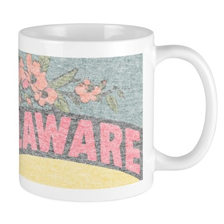 Vintage Delaware Flowers Mug