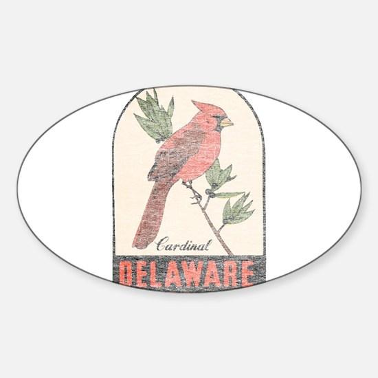 Vintage Delaware Cardinal Decal
