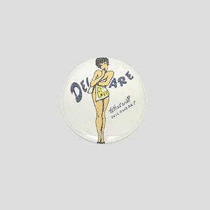 Vintage Delaware Pinup Mini Button