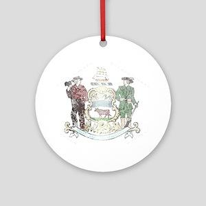 Vintage Delaware State Flag Ornament (Round)