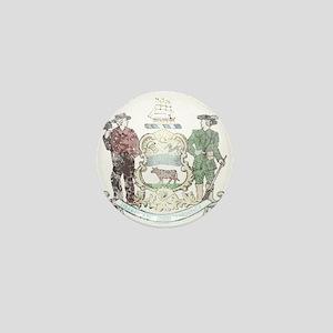 Vintage Delaware State Flag Mini Button