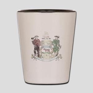 Vintage Delaware State Flag Shot Glass