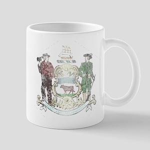 Vintage Delaware State Flag Mug
