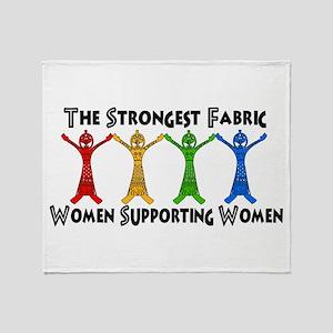 Women Supporting Women Throw Blanket