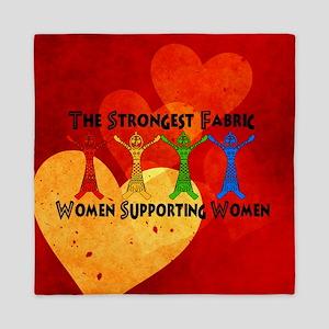Women Supporting Women Queen Duvet