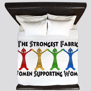 Women Supporting Women King Duvet