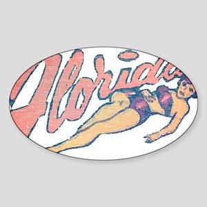 Vintage Florida Babe Sticker