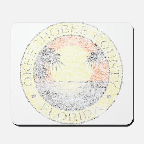 Vintage Okeechobee County Mousepad