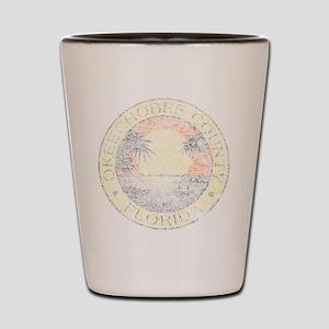 Vintage Okeechobee County Shot Glass