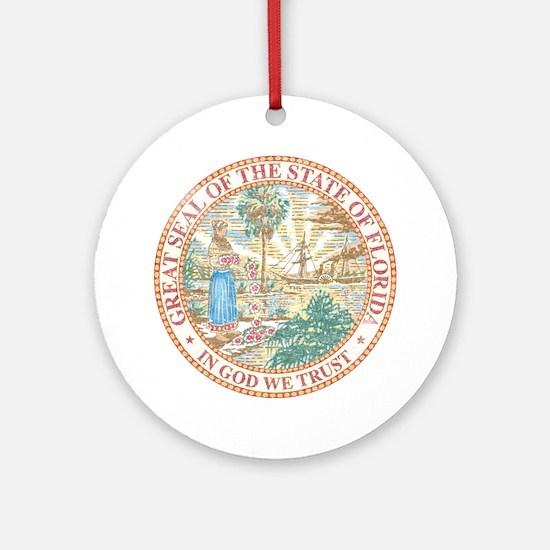 Vintage Florida Seal Ornament (Round)