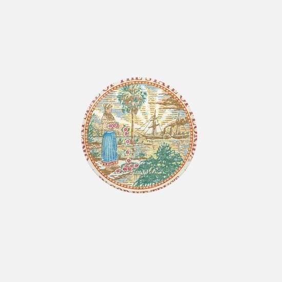 Vintage Florida Seal Mini Button