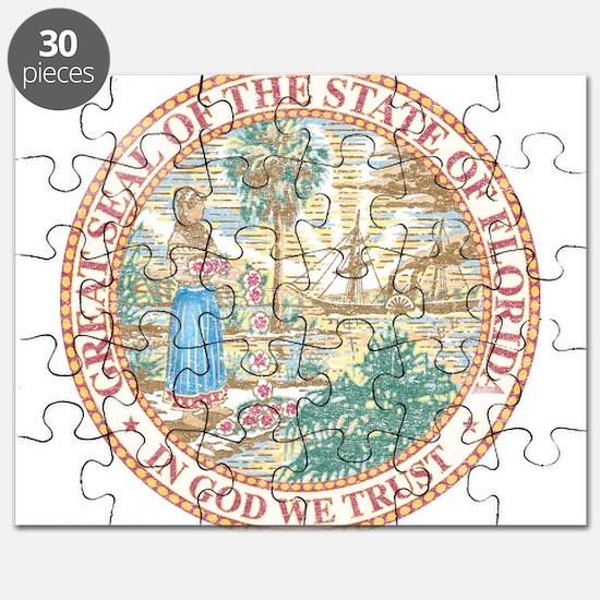 Vintage Florida Seal Puzzle