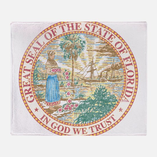 Vintage Florida Seal Throw Blanket