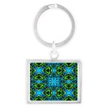 Blue and Green Stained Glass Keychains