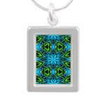 Blue and Green Stained Glass Necklaces