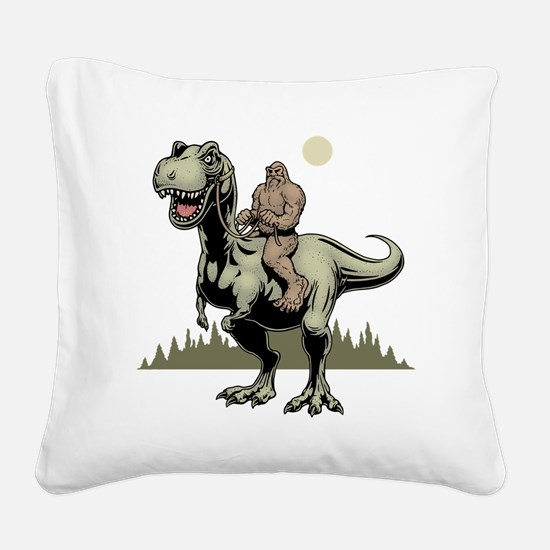 Footin' On The Rex Square Canvas Pillow
