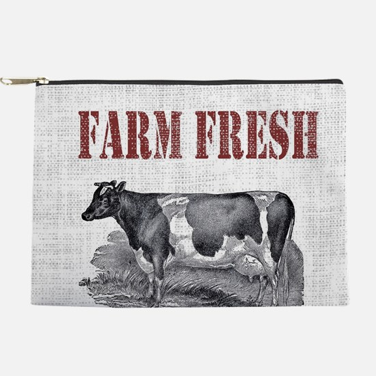 Country Chic Cow Farmhouse Makeup Pouch