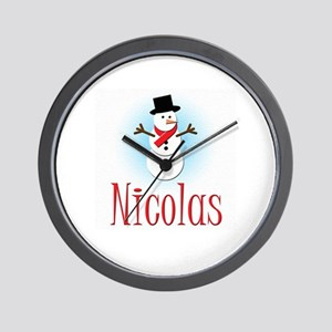 Snowman - Nicolas Wall Clock