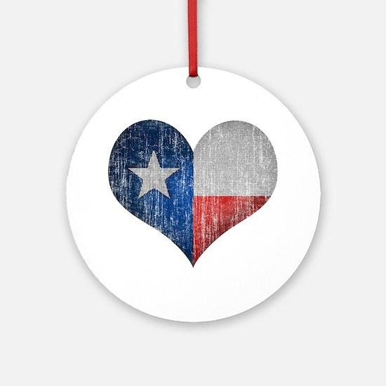 Faded Texas Love Ornament (Round)