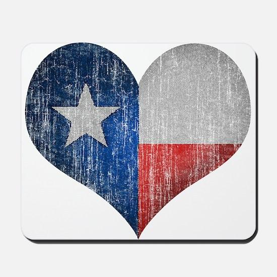 Faded Texas Love Mousepad