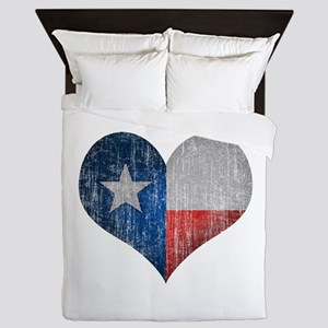 Faded Texas Love Queen Duvet