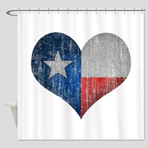 Faded Texas Love Shower Curtain