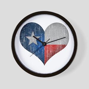 Faded Texas Love Wall Clock