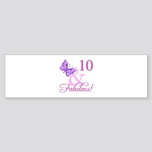 Fabulous 10th Birthday Sticker (Bumper)