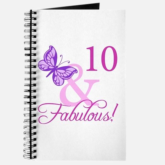 Fabulous 10th Birthday Journal