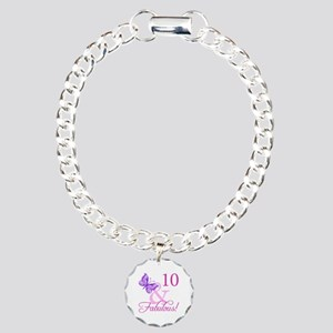 Fabulous 10th Birthday Charm Bracelet, One Charm