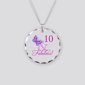 Fabulous 10th Birthday Necklace Circle Charm