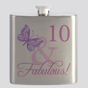 Fabulous 10th Birthday Flask