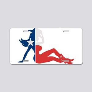 Texas Cowgirl Aluminum License Plate