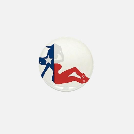 Texas Cowgirl Mini Button