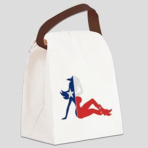 Texas Cowgirl Canvas Lunch Bag