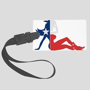 Texas Cowgirl Luggage Tag