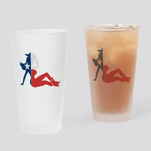 Texas Cowgirl Drinking Glass